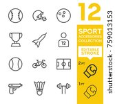 sport accessories collection.... | Shutterstock .eps vector #759013153
