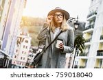 she has perfect style. low... | Shutterstock . vector #759018040