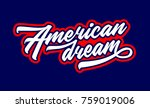 American Dream. Hand Lettering. ...
