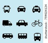 transportations icons vectors | Shutterstock .eps vector #759024124