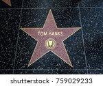 tom hanks's star  hollywood... | Shutterstock . vector #759029233