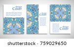 set of a4 cover  abstract... | Shutterstock .eps vector #759029650