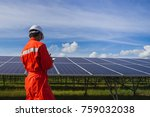 engineer working on checking... | Shutterstock . vector #759032038