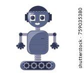 cartoon robot icon over white... | Shutterstock .eps vector #759035380
