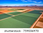 Small photo of Aerial view above the Salt River Pima-Maricopa Indian Community with a multitude of different crops