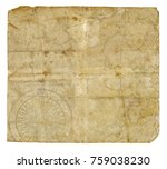 old retro blank paper... | Shutterstock . vector #759038230