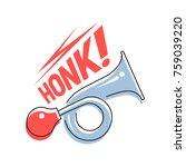 sign honk. vehicle horn. vector ... | Shutterstock .eps vector #759039220