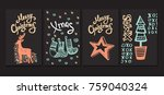 merry christmas collection of... | Shutterstock .eps vector #759040324