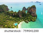 aerial view of tropical island  ... | Shutterstock . vector #759041200
