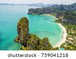 aerial view of tropical island  ... | Shutterstock . vector #759041218