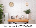 set of decorative cosmetics and ... | Shutterstock . vector #759043468