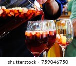 serving clericot in glasses | Shutterstock . vector #759046750
