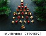 christmas tree decoration made... | Shutterstock . vector #759046924