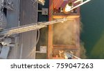 aerial view of big grain... | Shutterstock . vector #759047263