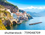 morning view of amalfi... | Shutterstock . vector #759048709