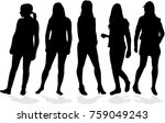 silhouette of a woman. | Shutterstock .eps vector #759049243