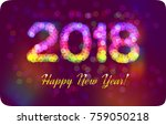 2018 happy new year from... | Shutterstock . vector #759050218