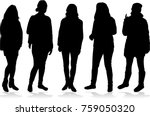 silhouette of a woman. | Shutterstock .eps vector #759050320