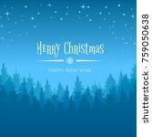 vector winter night starry sky  ...   Shutterstock .eps vector #759050638