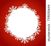 vector white winter frame with ...   Shutterstock .eps vector #759050644