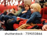 cute toddler boy watching... | Shutterstock . vector #759053866