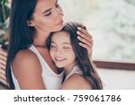 close up photo of hugging... | Shutterstock . vector #759061786