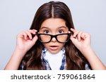 close up portrait of shocked ... | Shutterstock . vector #759061864