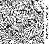 vector seamless leaf pattern.... | Shutterstock .eps vector #759062023