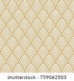 vintage art deco seamless... | Shutterstock .eps vector #759062503