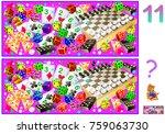 logic puzzle game for children... | Shutterstock .eps vector #759063730