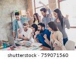 success and team work concept.... | Shutterstock . vector #759071560