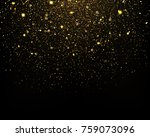gold glitter particles sparkles ... | Shutterstock .eps vector #759073096