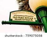 green streetlamp old port... | Shutterstock . vector #759075058
