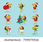 cute cartoon dog vector clipart....   Shutterstock .eps vector #759075526