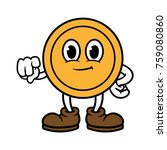 pointing cartoon coin character | Shutterstock .eps vector #759080860