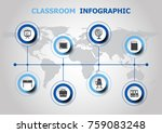infographic design with... | Shutterstock .eps vector #759083248