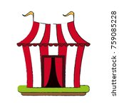 circus carnival tent icon... | Shutterstock .eps vector #759085228