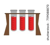medical test tubes | Shutterstock .eps vector #759088870