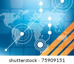 abstract background vector... | Shutterstock .eps vector #75909151