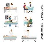 doctor and patient vector... | Shutterstock .eps vector #759092548