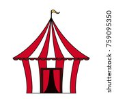 circus carnival tent | Shutterstock .eps vector #759095350