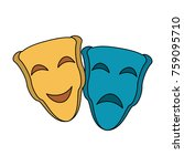theater masks symbol | Shutterstock .eps vector #759095710
