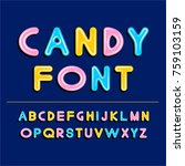 candy style font. vector... | Shutterstock .eps vector #759103159