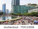 jakarta  indonesia   october 15 ... | Shutterstock . vector #759113008