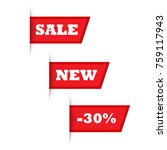 special offer sale red tag... | Shutterstock .eps vector #759117943