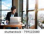 business man using his laptop... | Shutterstock . vector #759122080