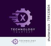 technology initial letter x...   Shutterstock .eps vector #759133834