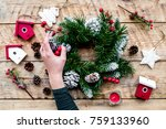 decorate house for christmas.... | Shutterstock . vector #759133960