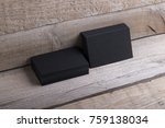 photo of black business cards....   Shutterstock . vector #759138034