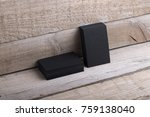photo of black business cards....   Shutterstock . vector #759138040